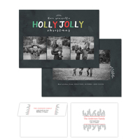 Holly Jolly<br>5x7 Double Sided<br>Envelope