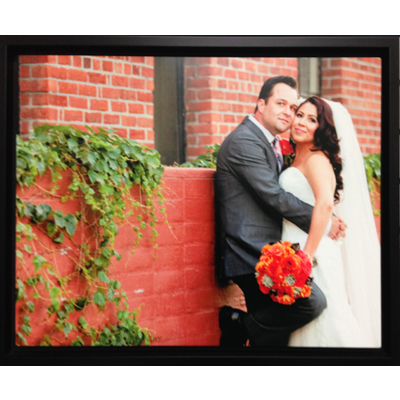 Black Float Frame for 16x20 Aluminum