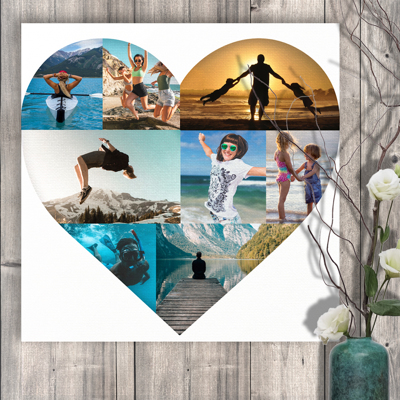 20 x 20 Heart Collage (8 photos)