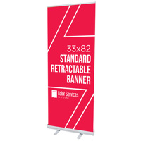 33x82 Standard Retractable Banner