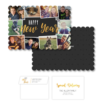 New Years Celebration<br>5x7 Scalloped<br>Envelope