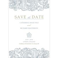 5x7 - Flat Photo Card - Classy - 1 Sided Save the Date