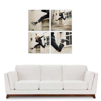 """4 Piece 400x400mm (16x16"""") Collection with 12mm Image Wrap"""