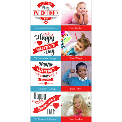 4x8 1 Sided - Mini Valentine Cards - A