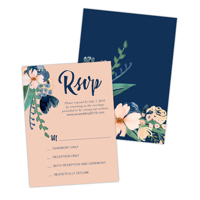 Navy Blooms<br>4x5.5<br>Double Sided