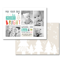 Merry Bright Love & Joy: 10pk Holiday Cards