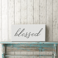 """Blessed 12""""x24"""" Canvas Print"""