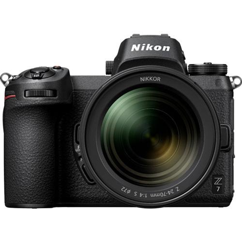 Nikon-Z7 Interchangeable Lens Mirrorless Camera with Nikkor Z 24-70mm F4 S Lens - Black-Digital Cameras