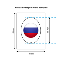 Russia Passport Photo Templates