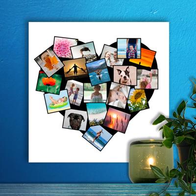 12 x 12 Heart Collage Acrylic Print - 20 photos