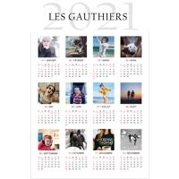 12 x 18 Poster Calendar - 12 images - 2021