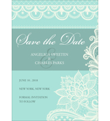Lace B - 1 Sided Save the Date