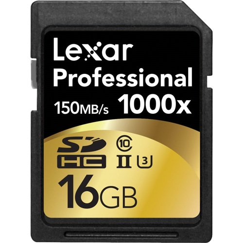 Lexar-16GB Professional 1000x SDHC UHS-II Memory Card-Memory cards, tape and discs