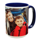 15 oz. Colorful Ceramic Dark Blue Mug