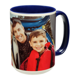 15 oz. Colorful Ceramic Dark Blue Mug