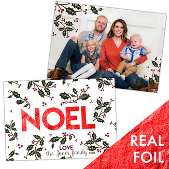 Noel<br>5x7 Foil<br>Double Sided