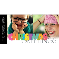 Rainbow Christmas Greetings - B
