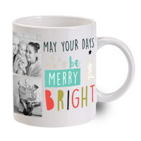 Merry & Bright Days 3 Photo Mug