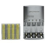 ProMaster-XtraPower 2 Hour NiMH World Charger includes 4 AA batteries #4851