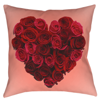 Soft Suede Freestyle & Pink Heart Rose  - Sloopy Cushichi Chikito 40x40 cm.
