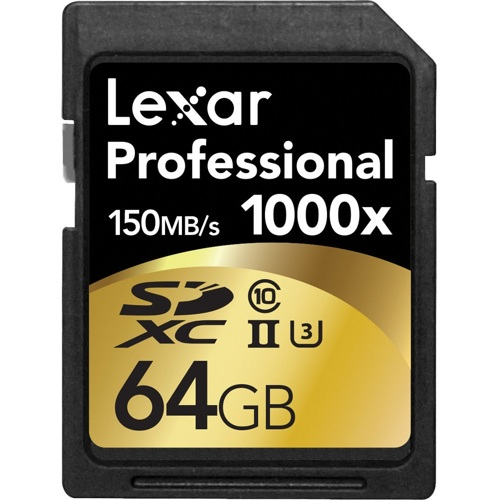 Lexar-64GB Professional 1000x SDXC UHS-II Memory Card-Memory cards, tape and discs