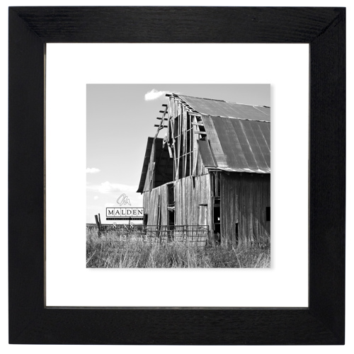 Malden-12x12 Black Distressed Floater-Photo Frames