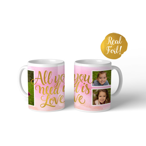 Metallic Mug All You Need is Love