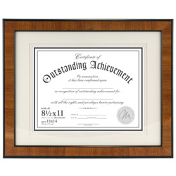 Malden 602 81 Classic Burlwood Document Frame 85 X 11 Stock