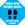 """Autocollant pour plancher Covid-19 bleu (12""""x12"""")"""