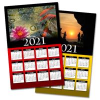 11 x 17 Calendrier Poster (Fond Personnalisé)  - 2021
