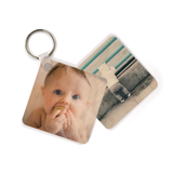 Square Wood Photo Keychain (2-sided)