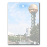 Knoxville Sunsphere Notepad