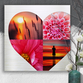 20 x 20 Heart Collage Metal Print - 4 photos