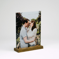 3.5x5 Wood Base Gloss White Metal Print
