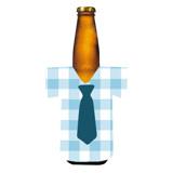 Bottle Koozie (Blue Tie)