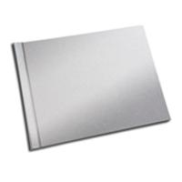 A4 - 29.7 cm x 21 cm (Unibind) Silver