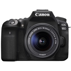 Canon-EOS 90D Digital SLR Camera with EF-S 18-55mm IS STM Lens-Digital Cameras