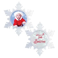 Snowflake Photo Ornament