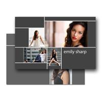 8.5 x 5.5 Comp Card (2-Sided) Sleek Lines