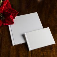 8 x 8 (Unibind) White Linen Photo Book w bleed