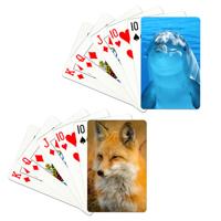 "Jeu de cartes avec 2 photos différentes (2.25""x3.5"")"