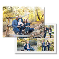 Merry Christmas<br>5x7 Foil<br>Envelope