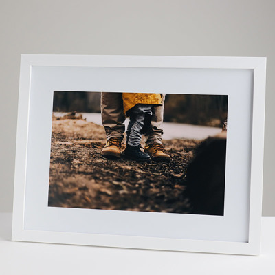400x300mm Print in a 20mm White Frame with a 200x300mm image  (50mm white space on all sides)